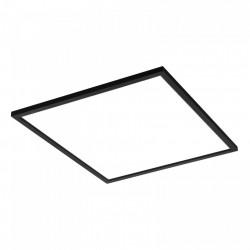 LED panel 60x60 60W természetes fény, alkalmazva, 4800 lm, fekete