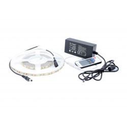 LED szalag készlet 3528 Meleg fehér 120 LED / méter 5 méter + tápegység + vezérlő