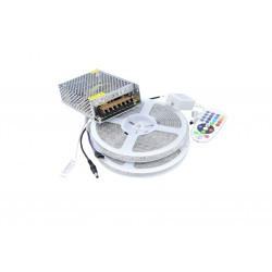 LED szalag készlet 5050 IP65 RGB 60 LED / méter 10 méter + tápegység + vezérlő