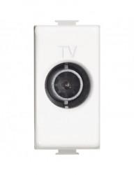 TV aljzat, vége, 1 modul, fehér, Bticino Matix