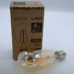 Vintage Edison LED izzó 4W ST64, Braytron