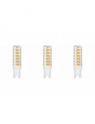 3 db G9 led-es izzó, 8W (65W), 610lm, A +, természetes fehér fény, Lumiled
