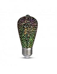 3W avokádó típusú LED izzó, 3D izzó, V-TAC