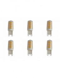 6 db G9 led izzó, 3W (25W), 300lm, A +, meleg fény, V-TAC