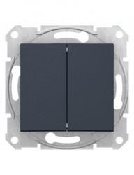 Alternativ csillárkapcsoló 10A, IP20, grafit, Schneider Sedna