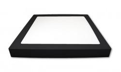 Aplica LED 24W patrata, lumina naturala(4000K), neagra, IP20, Masterled