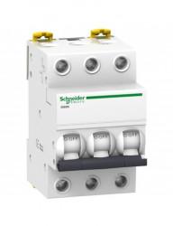 Automatikus kismegszakító 3P, 63A, C kioldási jelleggörbék, megszakító-képesség 4,5 kA, Schneider
