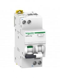 Automatikus kismegszakító differenciálvédelemmel 10A P + N, AC típus, 30mA, B kioldási jelleggörbé, 10kA, Schneider