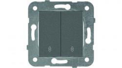 Kettős alternativ kapcsoló, 10A, IP20, grafit, Panasonic Arkedia Slim / Karre Plus Plus