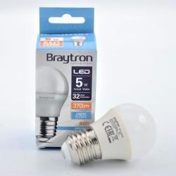LED izzó 5W G45 E27, Braytron, hideg fény