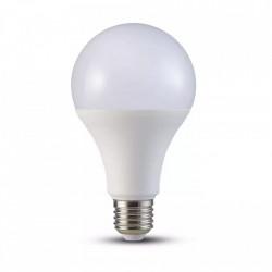 LED izzó E27, 18W(125W), természetes fehér fény, 4000K, 2000 lm, A +, V-TAC