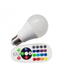 LED izzó RGB + 6400K, E27, 6W (40W), 470lm, A +, V-TAC