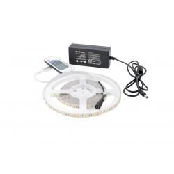 LED szalag készlet 5050 Meleg fehér 60 LED / méter 5 méter + tápegység + vezérlő