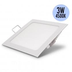 Négyzet alakú reflektorfény, süllyesztett, 3 W, természetes fehér fény 4500K, Optonica