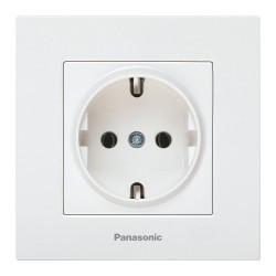 Simpla földelt aljzat Karre Plus Panasonic, ST, fehér
