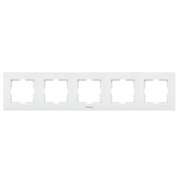 Sorolókeret, 5 vízszintes modul, Karre Plus Pansonic, fehér