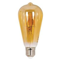 Vintage LED izzó Ledisone Retro ST64, 8W(60W), arany színű, meleg fény (2500K), avokádó alakú, 800Lm, E27, Vito