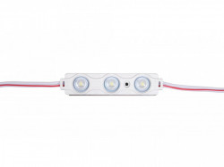 3 LED modul,, 1,5 W, 12 V, IP65, hófehér fény 10000 K, 70x15mm, Optika