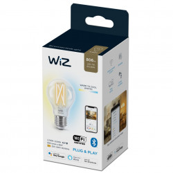 Bec LED smart vintage WiZ, forma A60, Wi-Fi, dulie E27, 6.7W (60W), 806 lm, temperatura lumina reglabila (2700K-6500K), compatibil Google Assistant/Alexa/Siri