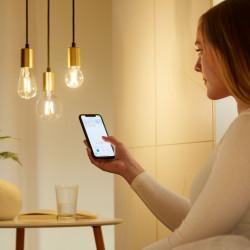 Bec LED smart vintage WiZ, forma ST64, Wi-Fi, dulie E27, 6.7W (60W), 806 lm, temperatura lumina reglabila (2700K-6500K), compatibil Google Assistant/Alexa/Siri