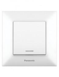 Egypólusú kapcsoló LED-del 10A, IP20, fehér, Panasonic Arkedia Slim