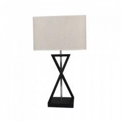 Fém + textil design asztali lámpa, fekete + elefántcsont szin, E27 foglalat (max 60W), V-TAC