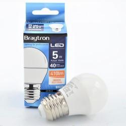 LED izzó 5W G45 E27, Braytron, meleg fény