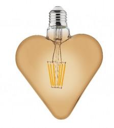 LED izzó, Vintage, E27, 6W (48W), meleg fény, A +