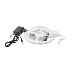 LED szalag készlet 5050 IP20 RGB 60 LED / méter 5 méter + tápegység + bluetooth vezérlő