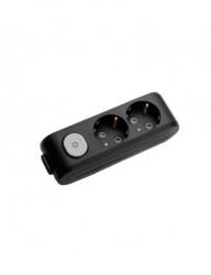 Tápegység blokk 2 aljzat + kapcsoló, X-tendia Panasonic, fekete