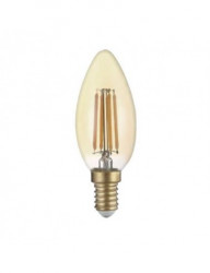 Vintage led izzó E14, 4W (27W), 400lm, meleg fény, A +, Optonica
