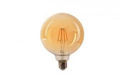Vintage LED izzó Ledisone Retro G95, 8W(60W), arany színű, meleg fény (2500K), gomb alakú, 800Lm, E27, Vito