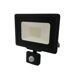 30W-os LED projektor érzékelővel, hideg fény, IP65, 2400 lm, Optonica