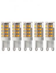 5 db G9 led izzó, 5W (40W), 470lm, A +, meleg fény, Lumiled