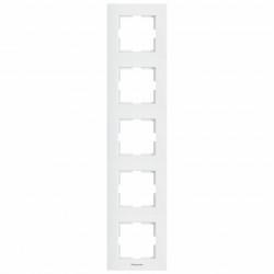5 függőleges modul sorolókeret, Karre Plus Pansonic, fehér