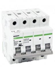 Automatikus kismegszakító , 3P + N, 25A, C kioldási jelleggörbék, megszakító-képesség 4,5 kA, Noark
