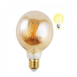 Bec Vintage Edison LED 4W G95, Braytron