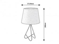 Blanka asztali lámpa, E14 foglalat (max. 40W), fekete, Rabalux