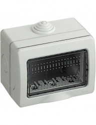 Doza montaj aplicat, 3 module, IP55, gri, Bticino Matix