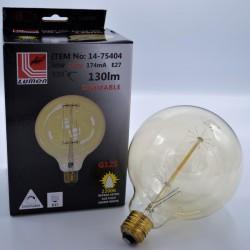 Gömb alakú vintage izzó, Edison, G125 40W E27