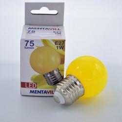 LED izzó, 1W sárga E27