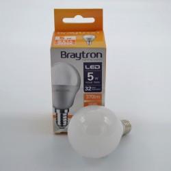 LED izzó 5W P45 E14, Braytron, meleg fény