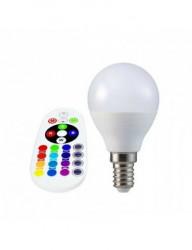 LED izzó P45, E14, RGB + 4000K, távirányítóval, 3,5 W (30 W), 320 lm, A +, V-TAC