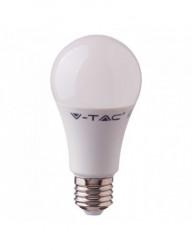 LED izzó, Samsung chip, 8,5 W (75 W), E27, 1055 lm, A +, meleg fény, V-TAC