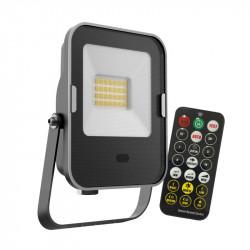 Proiector led 20W, cu senzor de miscare cu microunde si telecomanda, lumina naturala(4000 K), 1600 lumeni, Kobi