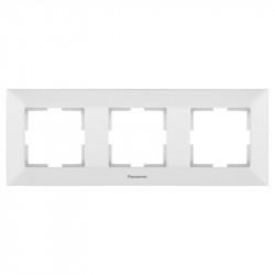 Sorolókeret 3 modul, vízszintes, Arkedia Panasonic, fehér