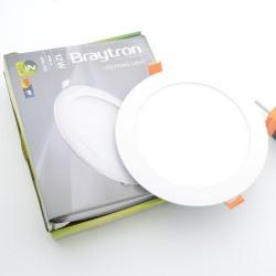 Spotlámpa LED 12W-os kerek 6400K, süllyesztett, Braytron