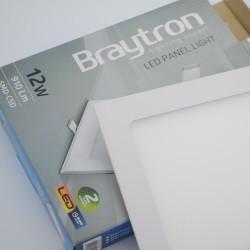 Spotlámpa LED 12W-os Square 6400K, süllyesztett, Braytron