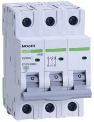 Automatikus kismegszakító , 3P, 16A, C kioldási jelleggörbék, megszakító-képesség 4,5 kA, Noark