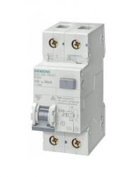 Automatikus kismegszakító differenciálvédelemmel 4,5A P + N, AC típus, 30mA, 10kA, Siemens